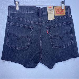 Levi's Shorts - Levi's High-Rise Shorts Black Rinse Sz 10